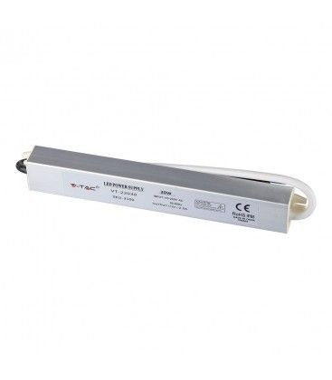 V-Tac 100W strømforsyning - 12V DC, 8A, IP65 vanntett