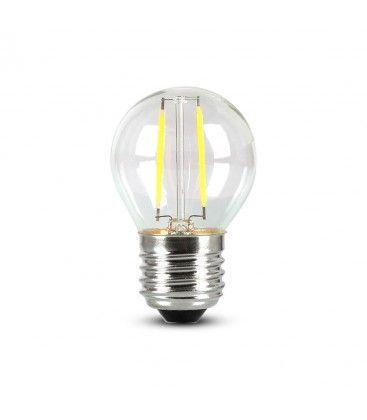 V-Tac 4W LED kronepære - Samsung LED chip, G45, Karbon filamenter, E27
