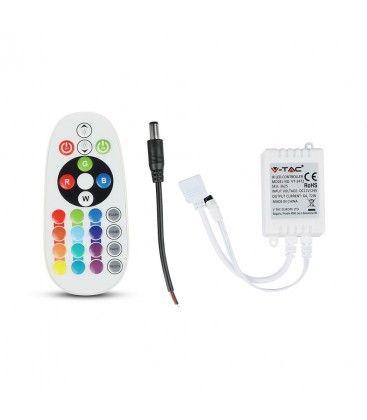 RGB kontroller med fjernkontroll - memory funktion, infrarød, 12V (72W), 24V (144W)