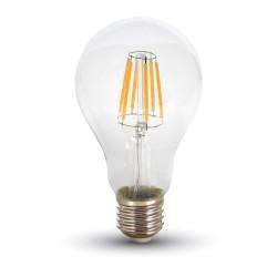 E27 vanlig LED Restsalg: V-Tac 10W LED pære - Karbon filamenter, A67, E27