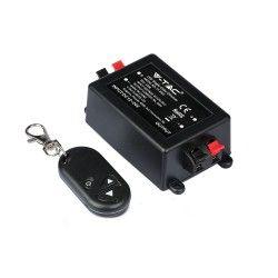 24V Trådløs dimmer med fjernkontroll - RF trådløs, minnefunksjon, 12V/24V (96W / 192W)