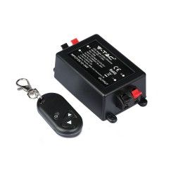 24V trappbelysning Trådløs dimmer med fjernkontroll - RF trådløs, minnefunksjon, 12V/24V (96W / 192W)