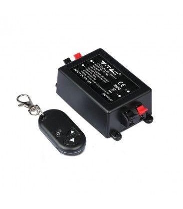 Trådløs dimmer med fjernkontroll - RF trådløs, minnefunksjon, 12V/24V (96W / 192W)