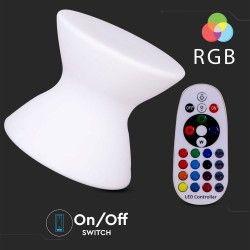 Lamper V-Tac RGB LED stol - Oppladbart, med fjernkontroll, 40x40x36 cm