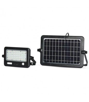 V-Tac 10W LED Solcelle lyskaster - Solcelle inkludert, Innebygd batteri, med sensor, utendørs