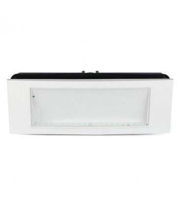 V-Tac 4W LED exit skilt - For vegg/tak/innfelt montering, 110 lumen, inkl. batteri og piktogrammer