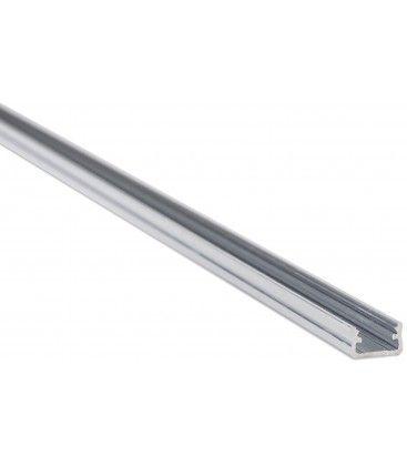 Aluprofil Type A til innendørs IP21 LED strip - 1 meter, grå, velg deksel