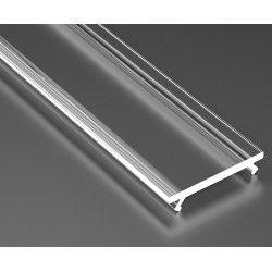 Aluminiumsprofiler Klart deksel for aluprofil - 1 meter, passer Type A, C, D og Z