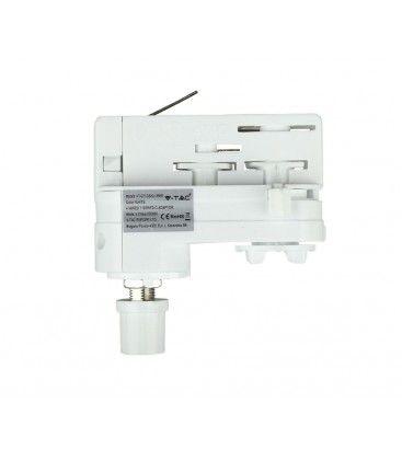 Lampeholder til Global skinner - Hvit, Passer til V-Tac skinner, 3-faset