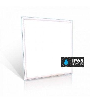 V-Tac LED Panel 60x60 - 40W, 4400lm, IP65 vanntett, hvit kant