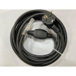 Plugg til 6W 230V LED strip, IP67 vanntett - Inkl. endestykke, 1m, 230V