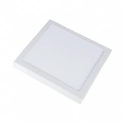 Lamper V-Tac 12W LED taklampe - 14 x 14cm, Høyde: 2,4cm, hvit kant, inkl. lyskilde