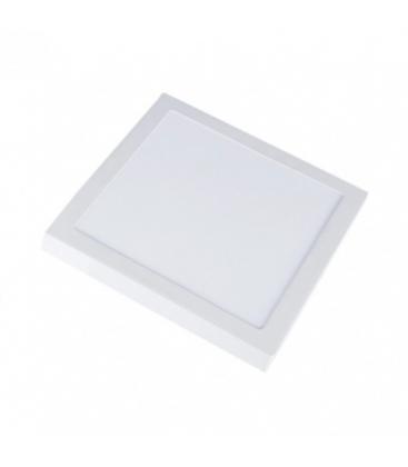 V-Tac 18W LED taklampe - 19 x 19cm, Høyde: 2,4cm, hvit kant, inkl. lyskilde