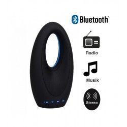 Bordlampe V-Tac Design Bluetooth høyttaler - 5W, oppladbart, FM Radio, Aux, SD, USB