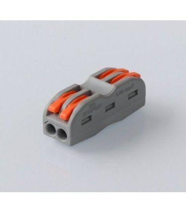 Skrueløs koblingsklemme til 2 ledninger