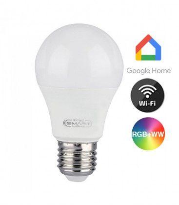 V-Tac 10W Smart Home LED pære - Google Home, Amazon Alexa kompatibel, E27