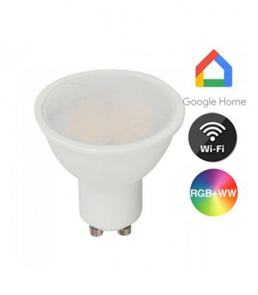 V-Tac 5W Smart Home LED pære - Google Home, Amazon Alexa kompatibel, GU10 Spot