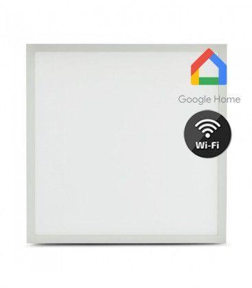 V-Tac 60x60 Smart Home LED panel - 40W, virker med Google Home, Alexa og smartphones, hvit kant