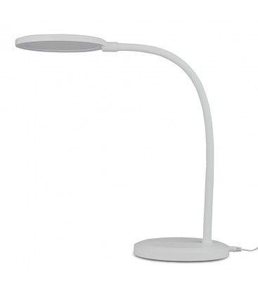 V-Tac 7W bordlampe hvit - Trinløs dimbar, fleksibel arm