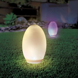 V-Tac RGB+W LED egg - Solcelle, Ø18,8 cm