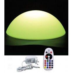 Lamper V-Tac RGB LED halvkule - Oppladbart, med fjernkontroll, Ø50 cm