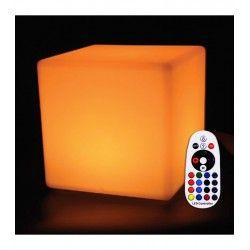 Lamper V-Tac RGB LED firkant - Oppladbart, med fjernkontroll, 40x40 cm