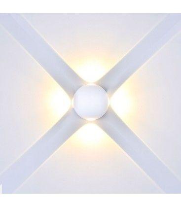 V-Tac 4W LED hvit vegglamper - Rund, IP65 utendørs, 230V, inkl. lyskilde