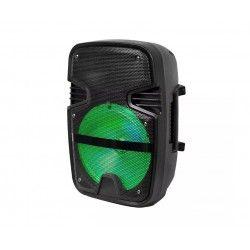 Partyhøytaler - 15W, oppladbart, Bluetooth, RGB, inkl. mikrofon