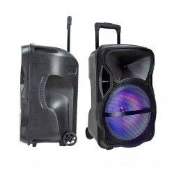 Partyhøytaler på hjul - 35W, oppladbart, Bluetooth, RGB, inkl. mikrofon