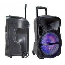 Trådløs Party Høyttaler 50W partyhøytaler på hjul - Opppladbart, Bluetooth, RGB, inkl. mikrofon
