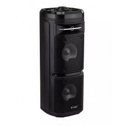Partyhøytaler på hjul - 30W, opppladbart, Bluetooth, RGB, inkl. mikrofon