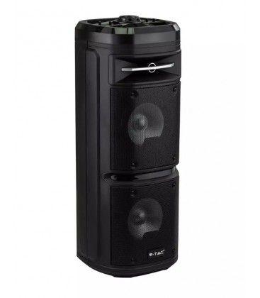30W partyhøytaler på hjul - Opppladbart, Bluetooth, RGB, inkl. mikrofon