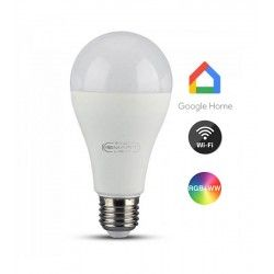 V-Tac 15W Smart Home LED pære - Google Home, Amazon Alexa kompatibel, E27