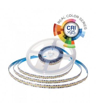 V-Tac 18W/m LED strip høy lumen RA 95 - 10m, 24V, IP20, 240 LED per meter, Samsung LED chip