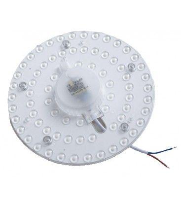 24W LED innsats med linser, flicker free - Ø17 cm, erstatt G24, sirkelrør og kompaktrør
