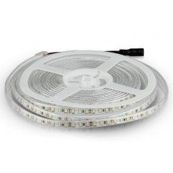 12V V-Tac 7,2W/m sprutsikker LED strip - 5m, 120 LED per meter