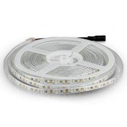 12V V-Tac 7,2W/m sprutsikker LED strip 8mm bred - 5m, 120 LED per meter