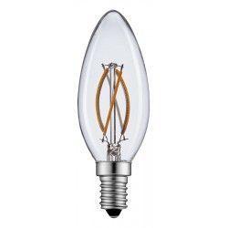 E14 LED 2W LED stearinlys pære - Karbon filamenter, varm hvit, E14