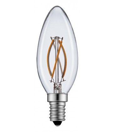 2W LED stearinlys pære - Karbon filamenter, varm hvit, E14