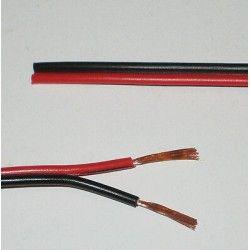 LED strips 12-24V kabel rød/svart - 2x0,5mm², metervare, min. 5 meter