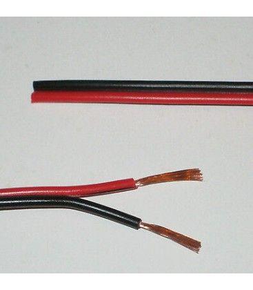 12-24V kabel rød/svart - 2x0,5mm², metervare, min. 5 meter