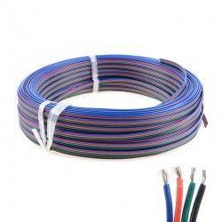 Tilbehør 12-24V RGB kabel - 4x0,5mm², metervare, min. 5 meter