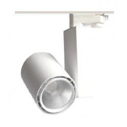Lamper LEDlife hvit skinnespot 25W - Flicker free, 110lm/w, RA80, 3-faset
