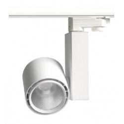 Lamper LEDlife hvit skinnespot 30W - Citizen LED, Flicker free, RA80, 3-faset