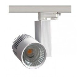 Lamper LEDlife hvit skinnespot 30W - Philips COB, Flicker free, RA90, 3-faset