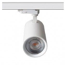 LEDlife hvit skinnespot 28W - Flicker free, Citizen LED, RA90, 3-faset