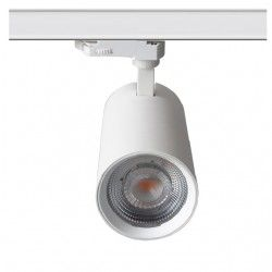 Lamper LEDlife hvit skinnespot 30W - Flicker free, Citizen LED, RA90, 3-faset