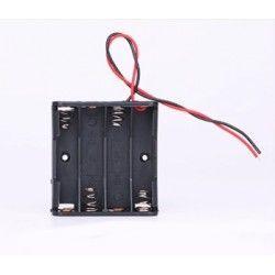 Diverse Batteriholder 4 x AA - 6V