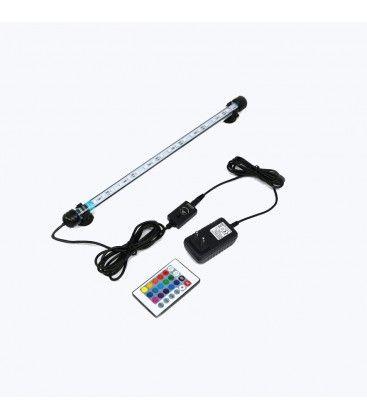 28 cm RGB akvarie armatur - 3W LED, med sugekoppper, IP68