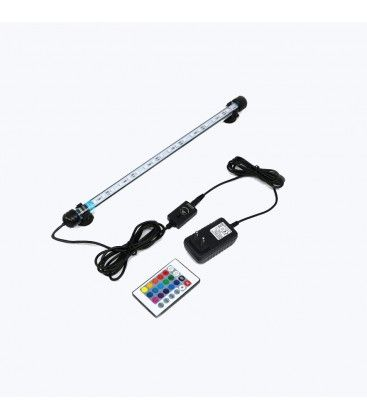 Akvarie armatur RGB 37cm - 4W LED, med sugekoppper, IP68